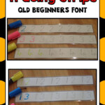 Number Tracing Strips 0-20 Qld Beginners Font | Math Lesson