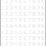 Number Tracing   Tracing Worksheets Preschool, Learning