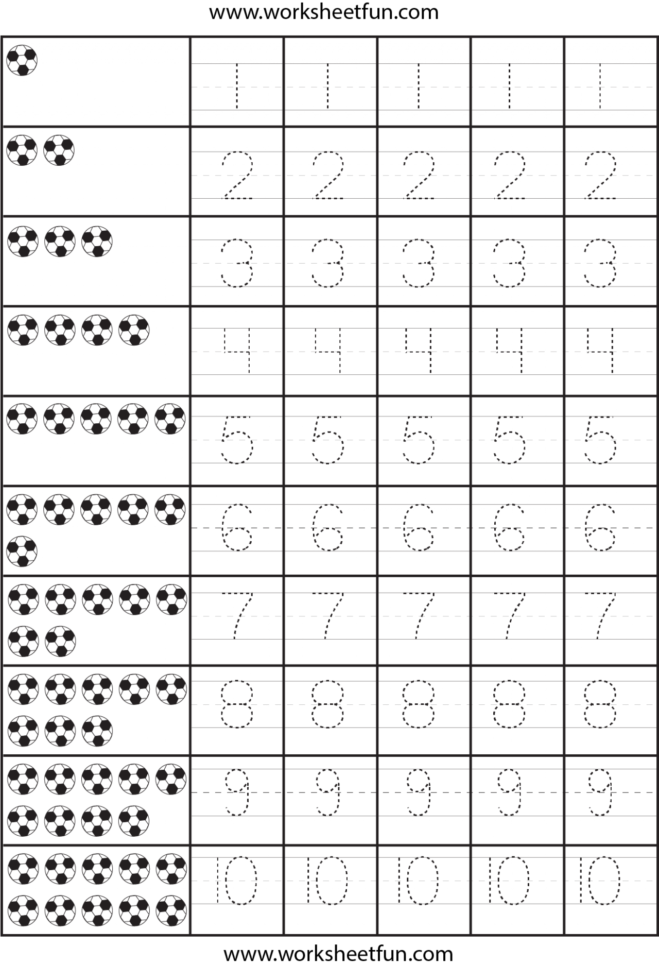 Number Tracing Worksheets Pdf Id#5 Worksheet | Atividade