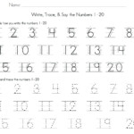 Numbers Tracing Worksheets 1 Number Tracing Tracing
