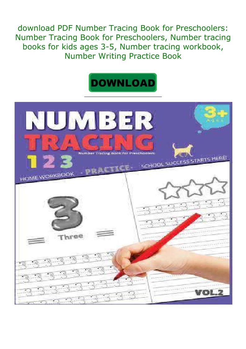 Pdf Download Number Tracing Book For Preschoolers: Number