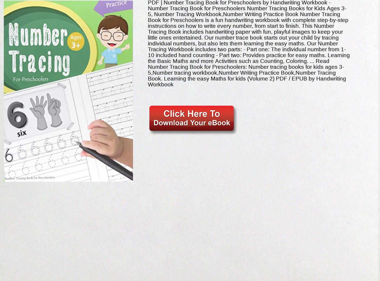 Pdf Number Tracing Book For Preschoolers Handwriting