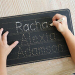 Personalized Name Trace Chalkboard