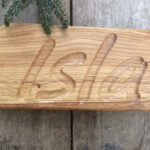 Personalized Oak Or Ash Tree Wood Name Tracing Board, Eco Wood Name Tracing  Board
