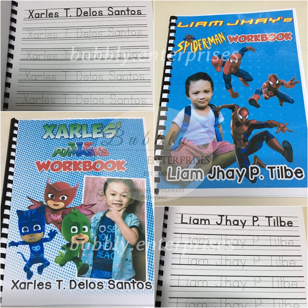 Personlized Name Tracing Workbook Activity Book, Books
