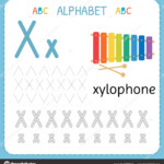 Pictures: X For Kindergarten | Alphabet Tracing Worksheet