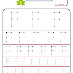Preschool Letter Tracing Worksheet - Letter F Different