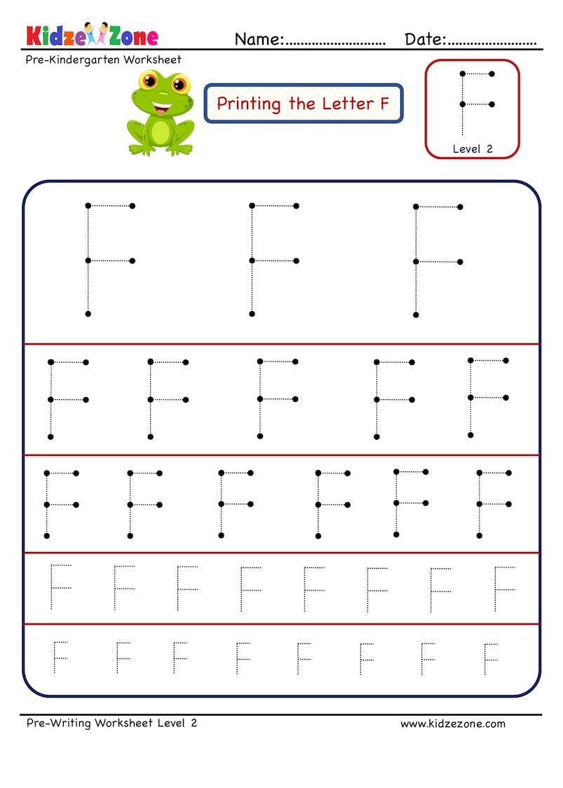 Preschool Letter Tracing Worksheet - Letter F Different