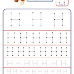 Preschool Letter Tracing Worksheet - Letter H Different