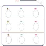 Preschool Letter Tracing Worksheet - Letter O, Big Font