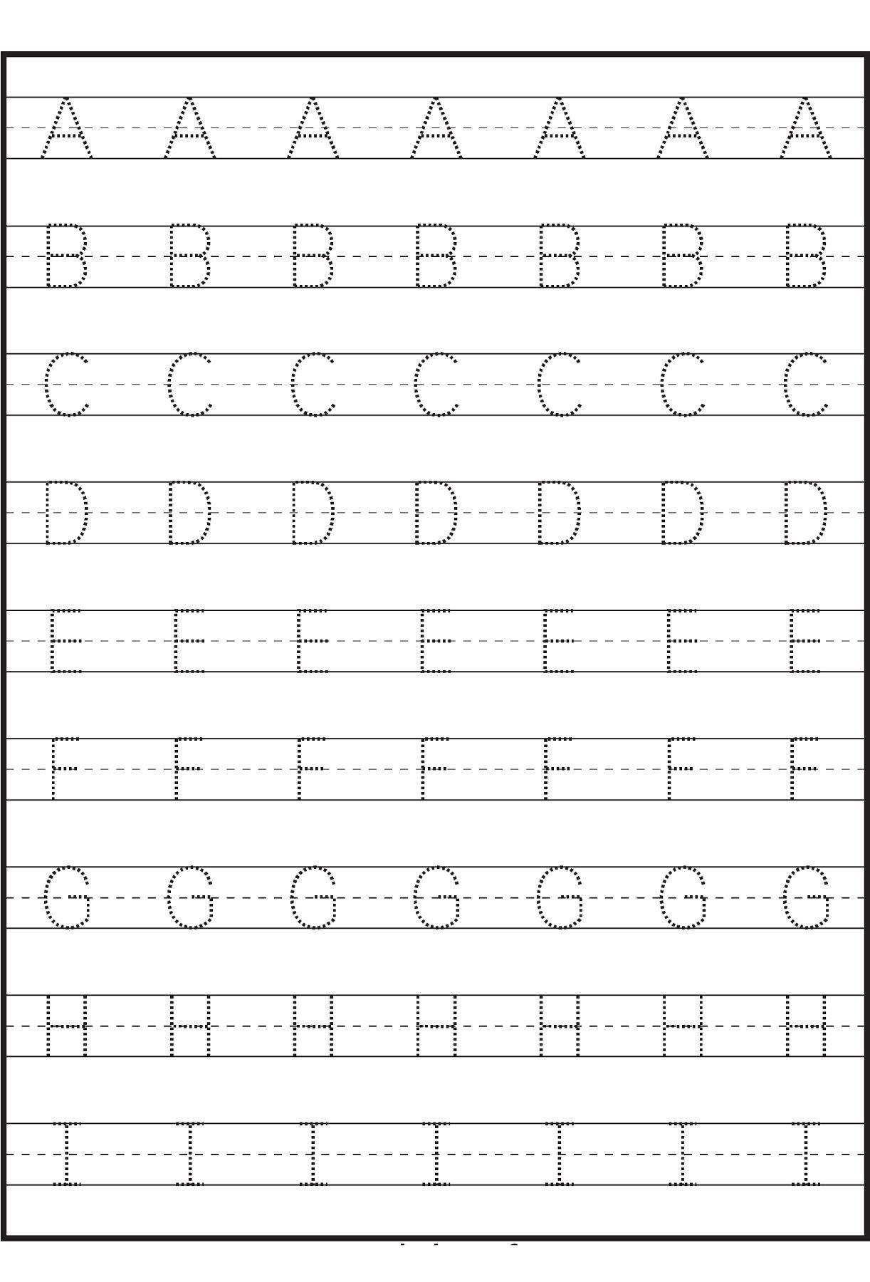 Preschool Printables Abet Tracing Sheet From From Letter