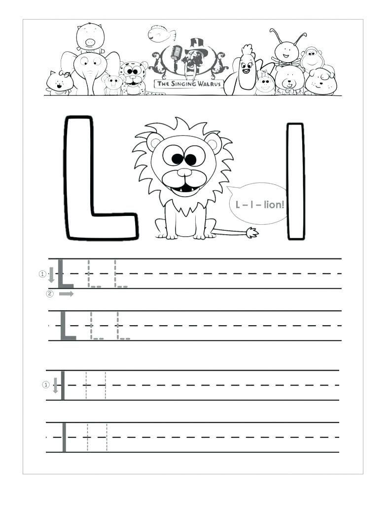 Preschool Worksheet Letter L - Clover Hatunisi