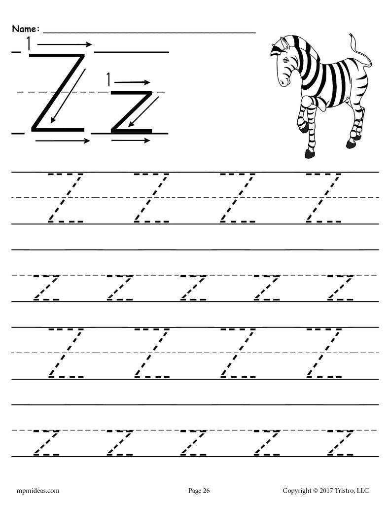 Preschool Worksheet Letter Z - Clover Hatunisi