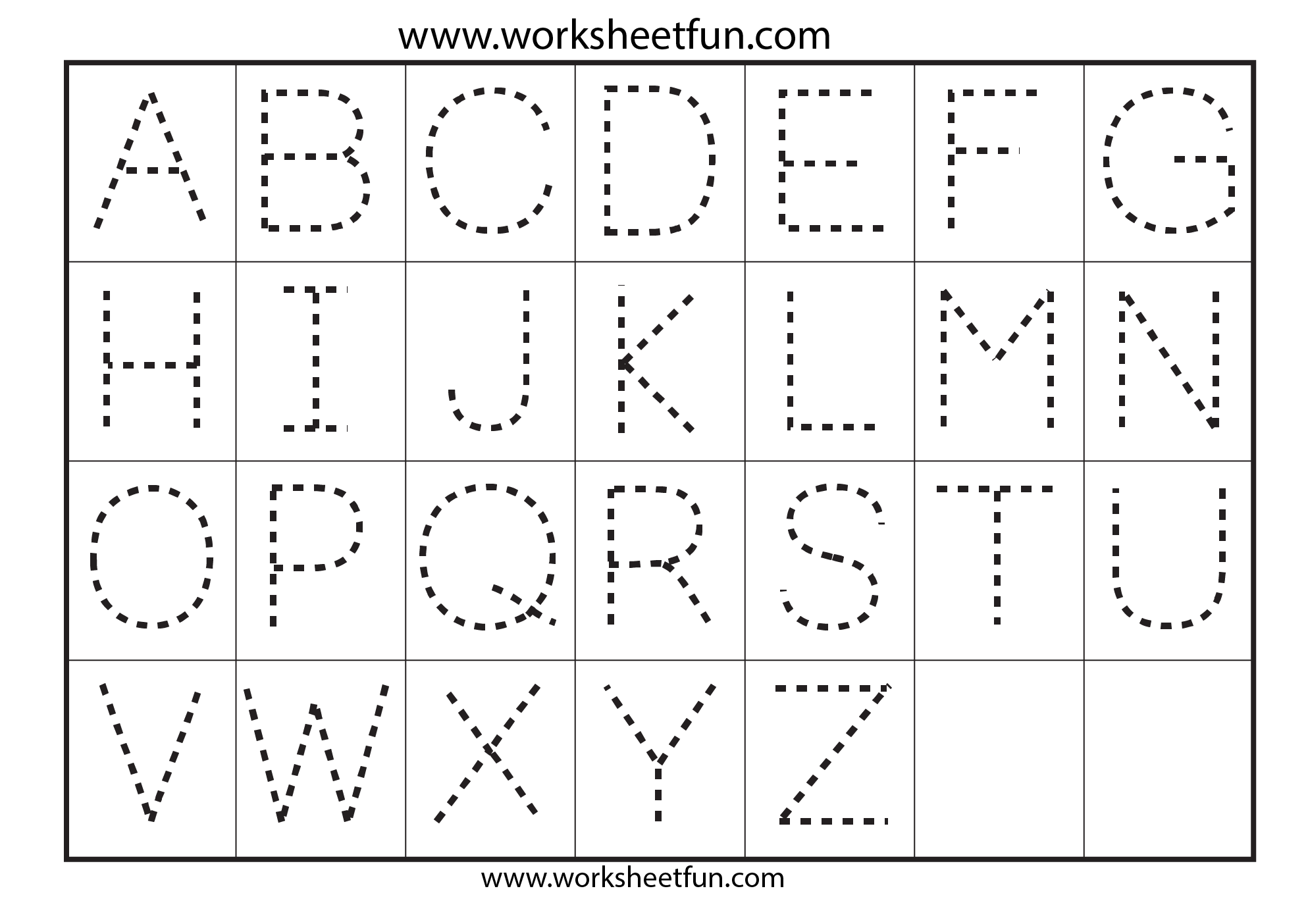 Preschool Worksheets Alphabet Tracing Letter A | Tracing