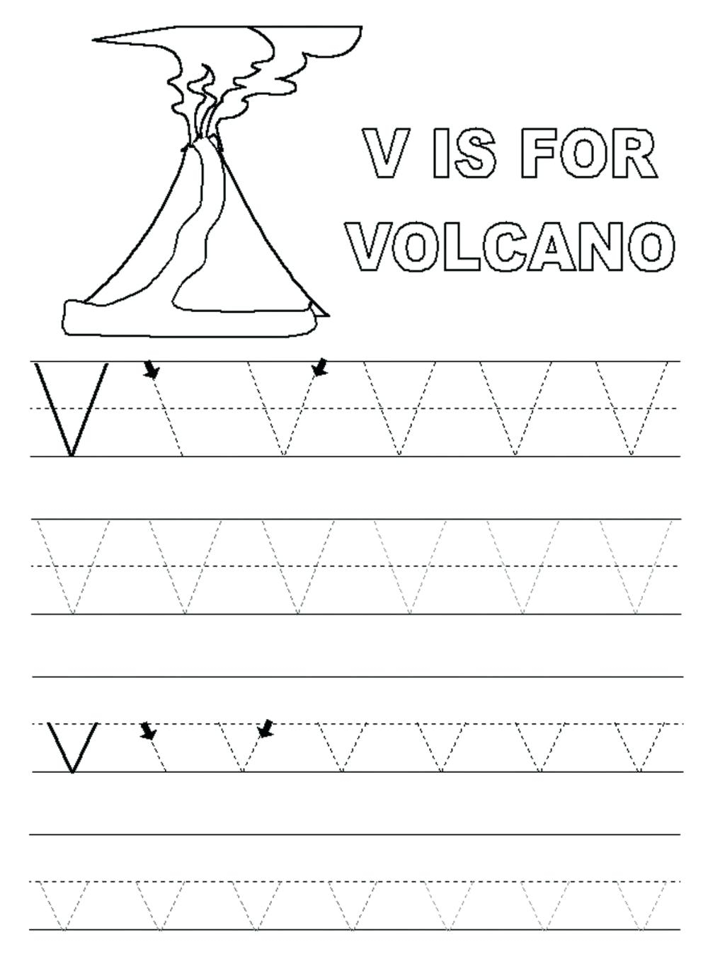 Preschool Worksheets With The Letter V - Clover Hatunisi