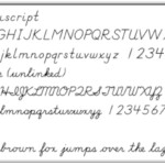 Print And Cursive Handwriting Fonts For Educators