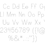 Print Clearly Font | Blue Vinyl | Fontspace