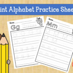 Print Handwriting Practice Worksheets, Alphabet Tracing