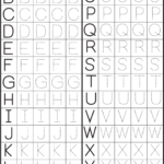 Printable Alphabet Letters To Trace Preschool Pages Free