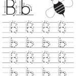 Printable Letter B Tracing Worksheet With Number And Arrow