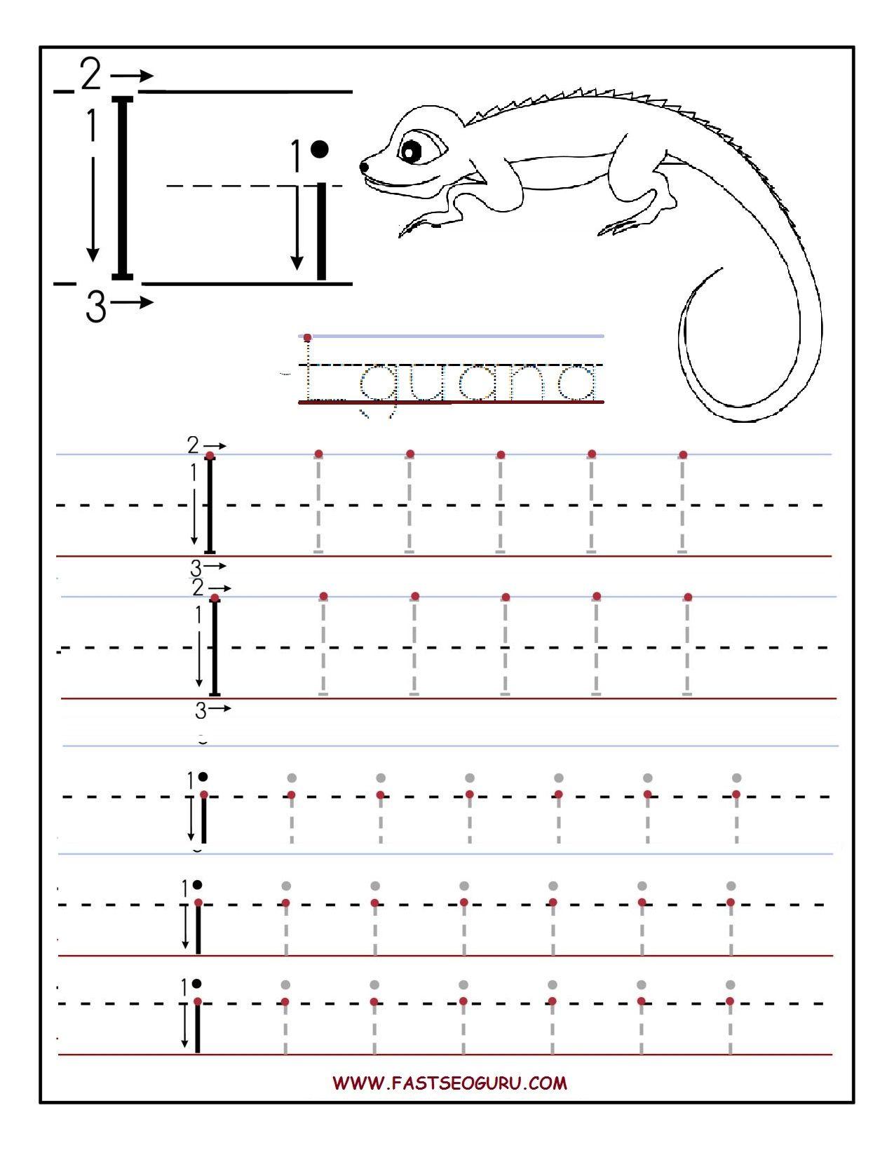 Printable Letter I Tracing Worksheets For Preschool