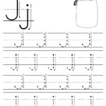 Printable Letter J Tracing Worksheet With Number And Arrow