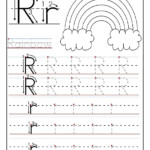 Printable Letter R Tracing Worksheets For Preschool | Letter