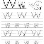 Printable Letter W Tracing Worksheet With Number And Arrow