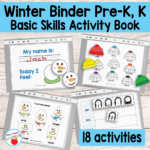 Printable Winter Binder For Preschool And Kindergarten