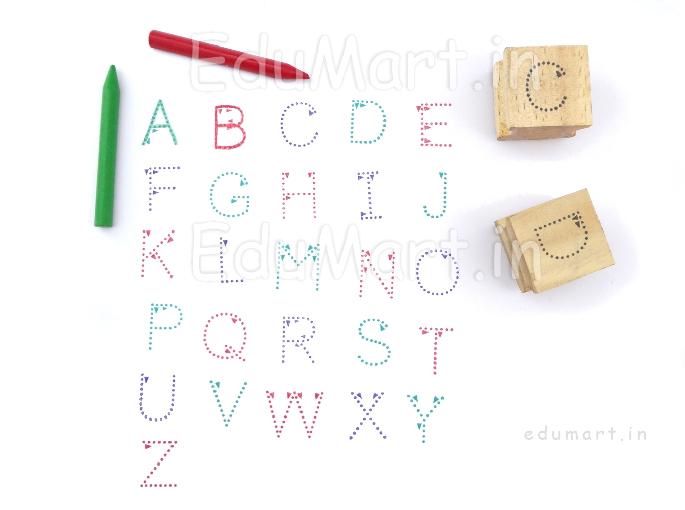 Product|Language Rubber Stamps|Upper Case Alphabet Rubber