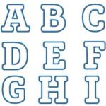 Punky Monkey Applique Font | Lettering, Stencil Font, Block