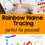 Rainbow Name Tracing Activity | Educational Activities For