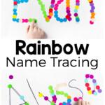 Rainbow Name Tracing Activity - Preschool Inspirations