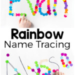 Rainbow Name Tracing Activity - Preschool Inspirations
