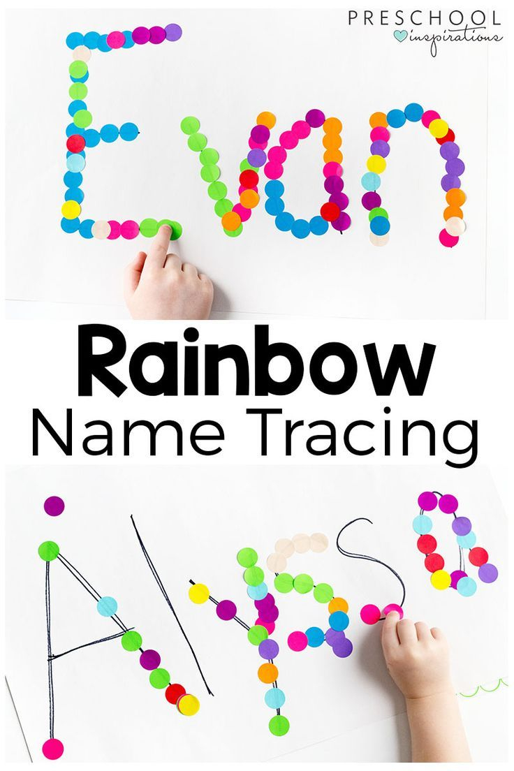 Rainbow Name Tracing Activity | Rainbow Activities, Name