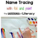 Rainbow Name Tracing Art Activity | Writing Activities For