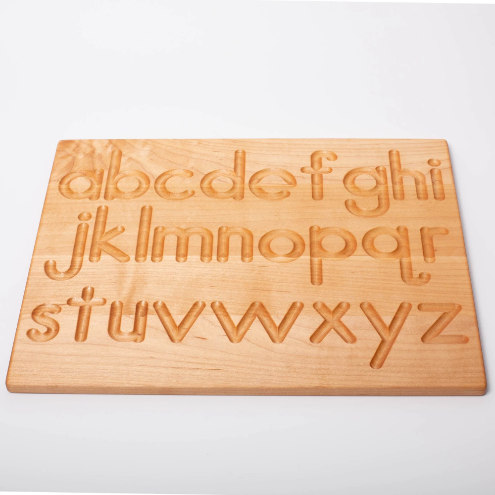 Reversible Wooden Alphabet Tracing Board | Printed