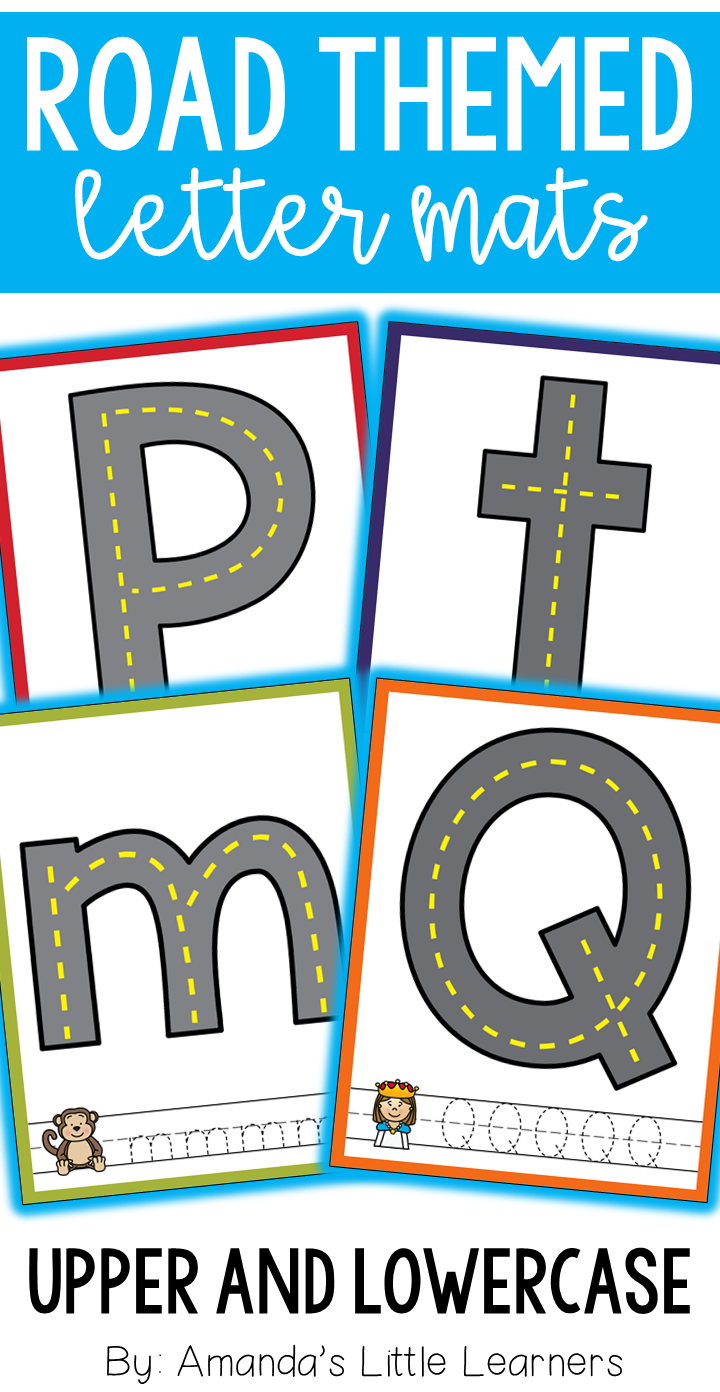 Road Themed Letter Mats - Playdough Or Cars | Letter Sounds