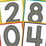 Road Themed Number Mats - Playdough Or Cars | Learning