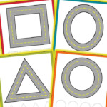 Road Themed Shape Mats - Playdough Or Cars | Learning Shapes
