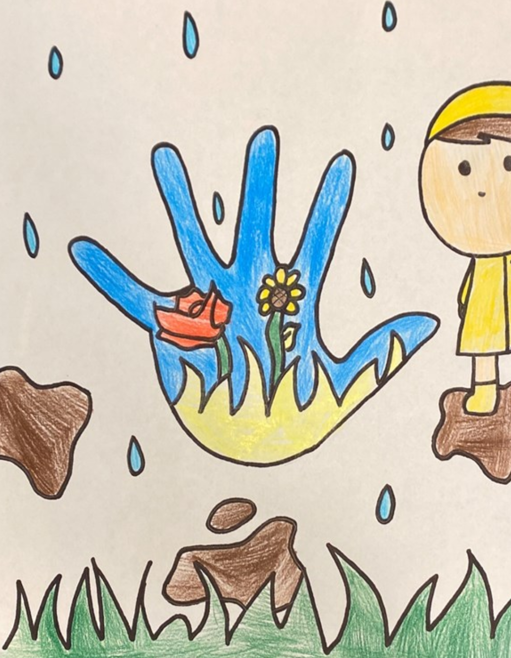 See 220 Drawings Of Houston Kids Tracing Their Hands And