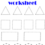 Shape Tracing Worksheets In 2020 | Shape Tracing Worksheets