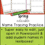 Spring Editable Name Tracing Practice | Name Tracing, Name