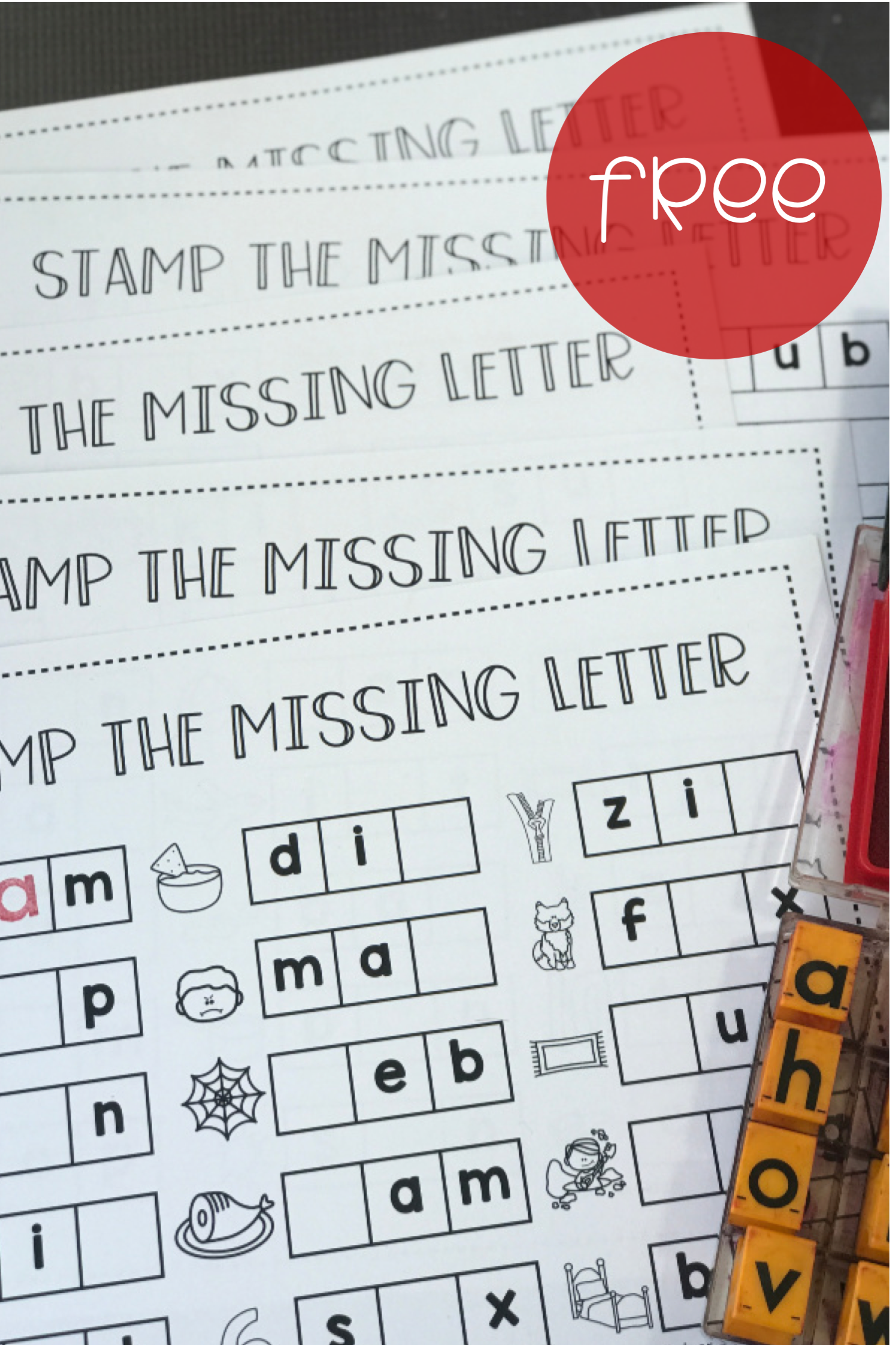 Stamp The Missing Letter Students Can Stamp The Missing