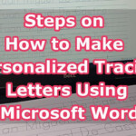 Steps On How To Make Personalized Tracing Letters Using Microsoft Word