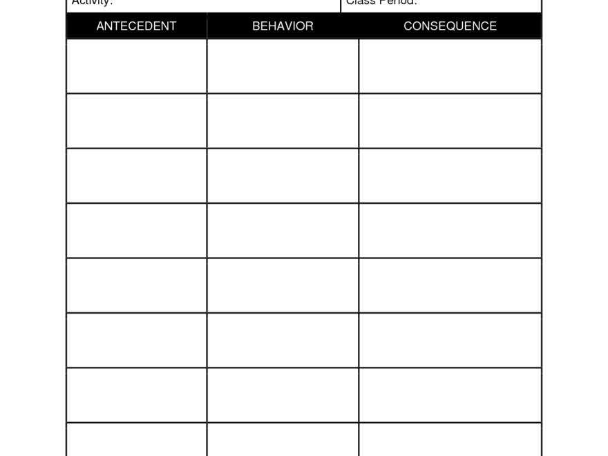 Student+Behavior+Observation+Form+Template | Special