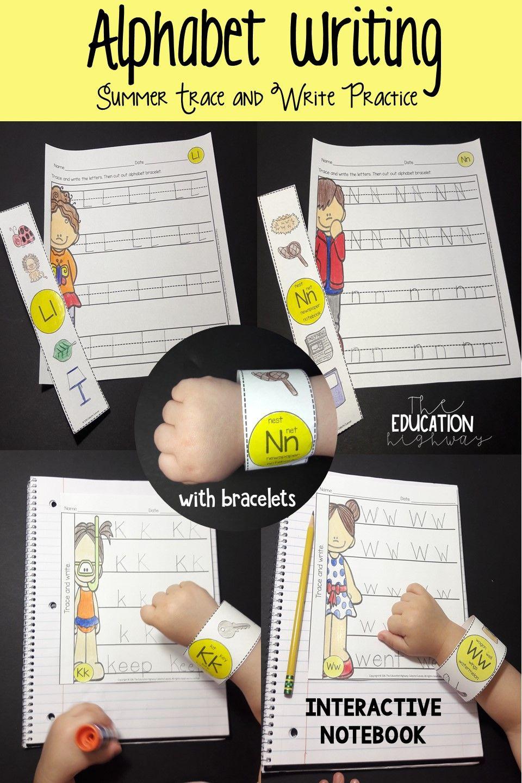 Summer Alphabet Trace And Write (With Bracelets) | Alphabet