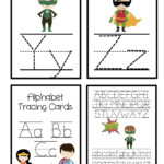 Super Hero Alphabet Tracing Cards | Alphabet Tracing
