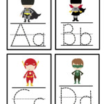 Super Hero Alphabet Tracing Cards | Superhero Preschool