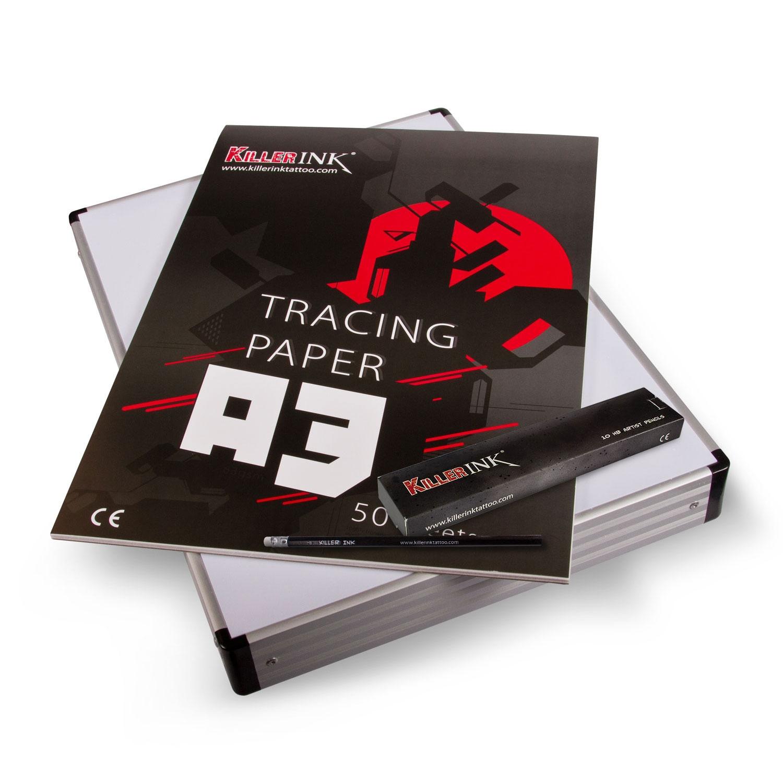 Tatovør Sett - Light Box + Tracing Papir
